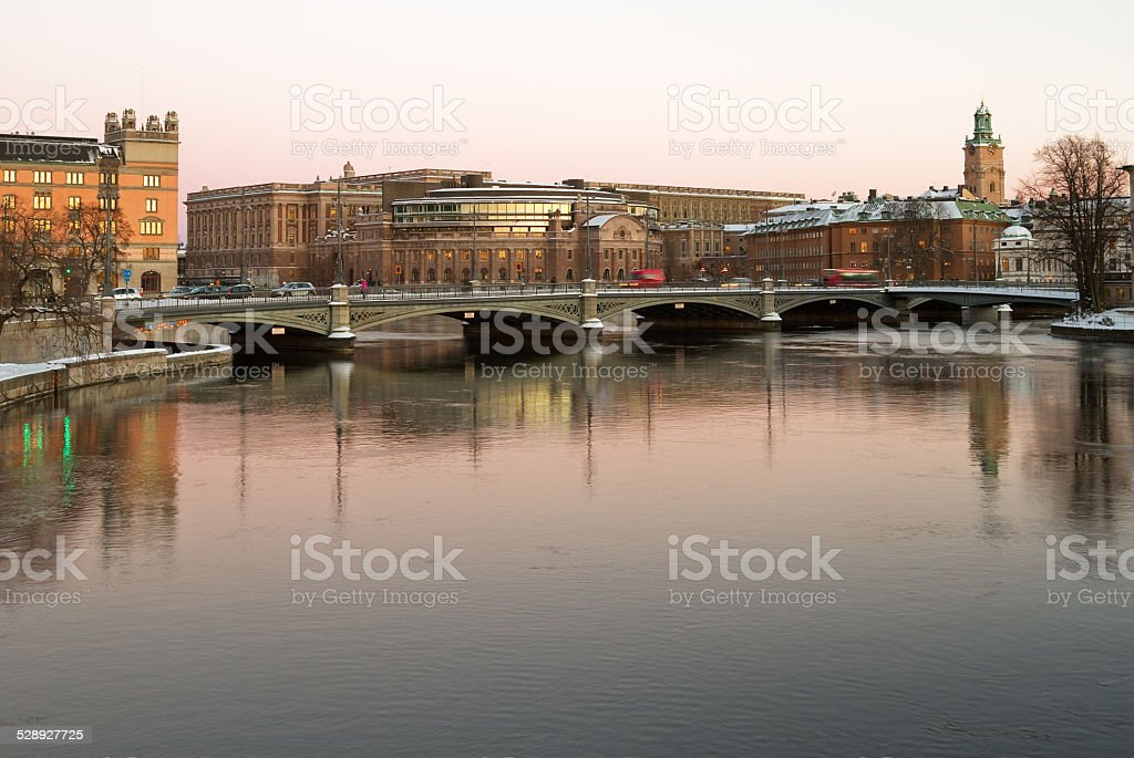 Swedish parliament. stock photo