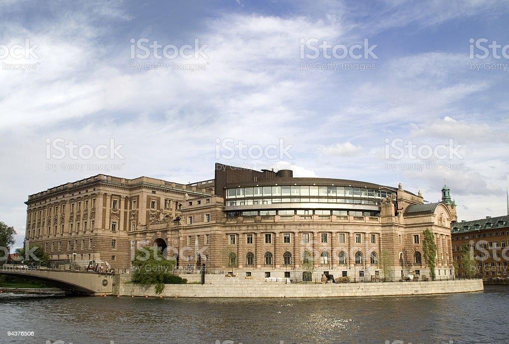 Swedish parliament stock photo