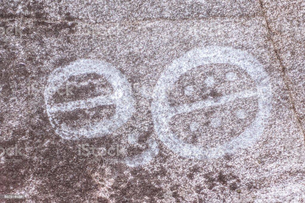 Swedish Petroglyphs in Nykoping stock photo