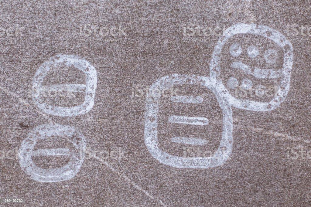 Swedish Petroglyphs stock photo