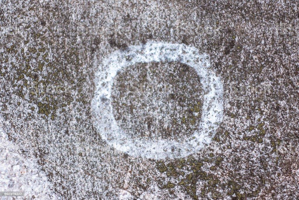 Swedish Petroglyphs prehistoric circle stock photo