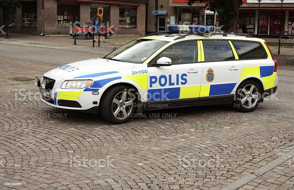 Swedish police car royalty-free stock photo