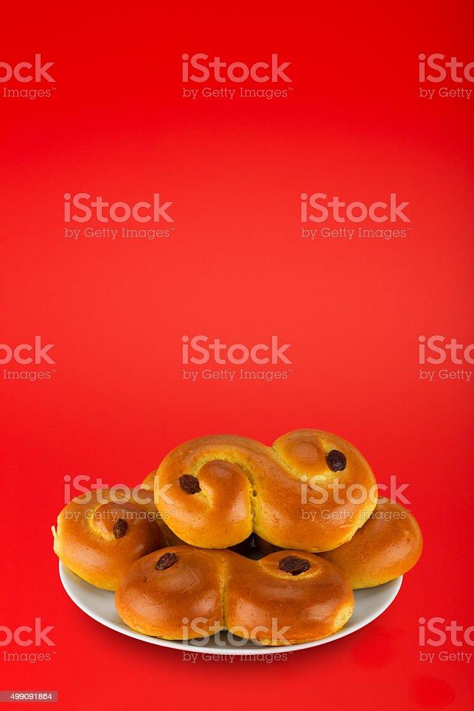 Swedish saffron buns. stock photo