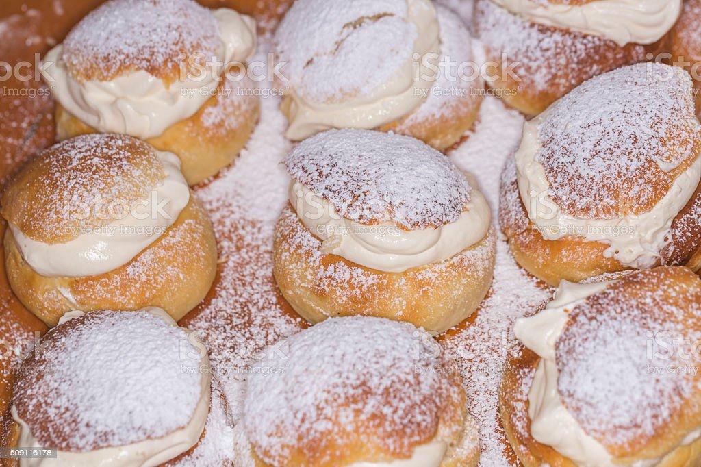 Swedish Semla (Lenten Bun) stock photo