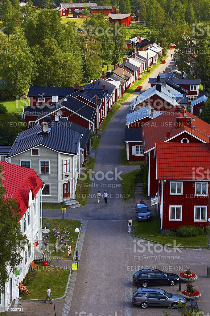 Swedish small village stock photo