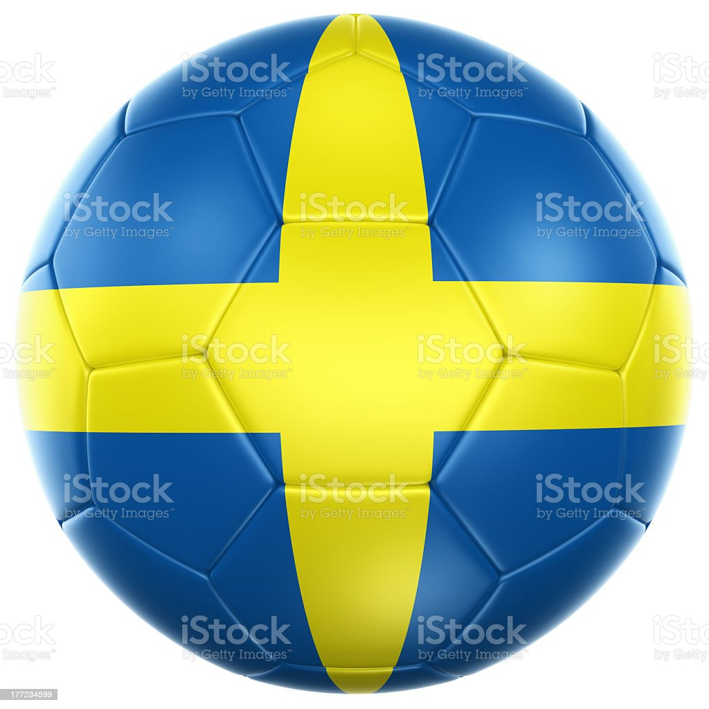 Swedish soccer ball royalty-free stock photo