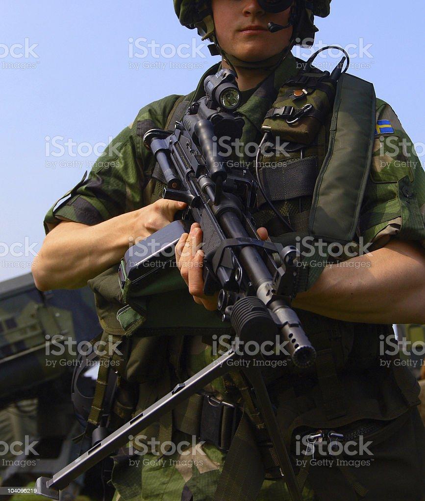 Swedish soldier stock photo