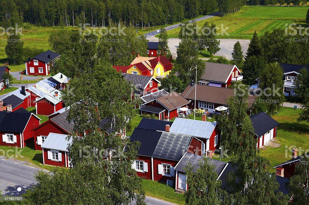 Swedish summer cottages stock photo