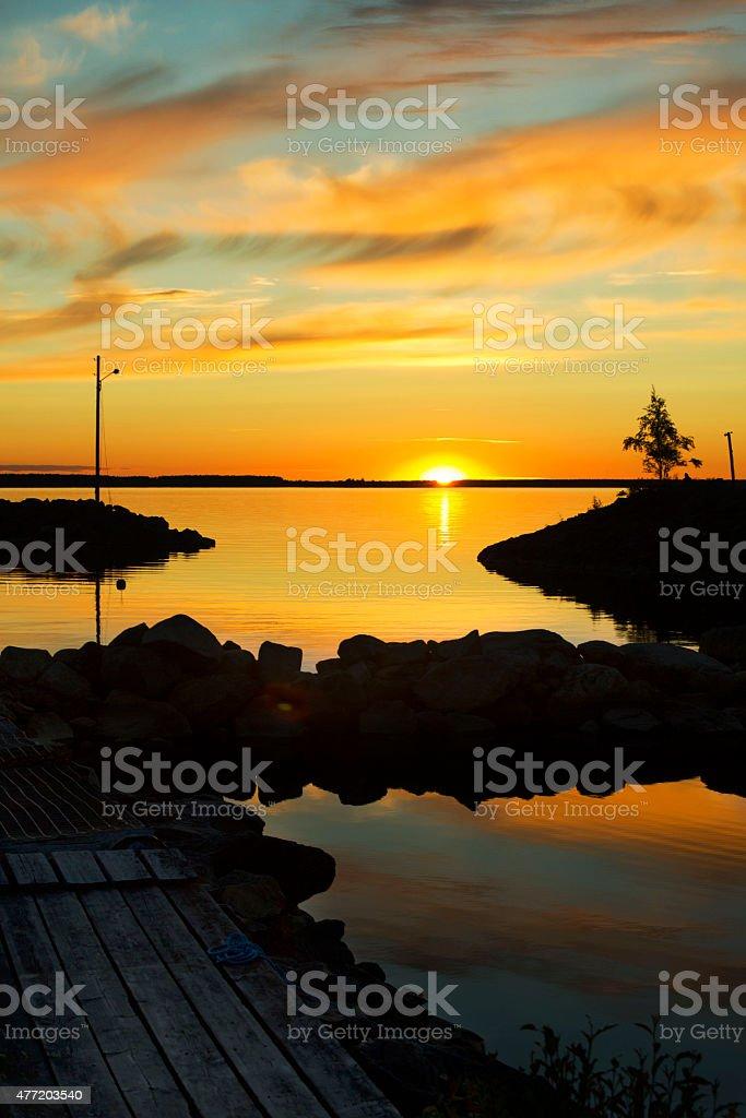 Swedish sunset stock photo