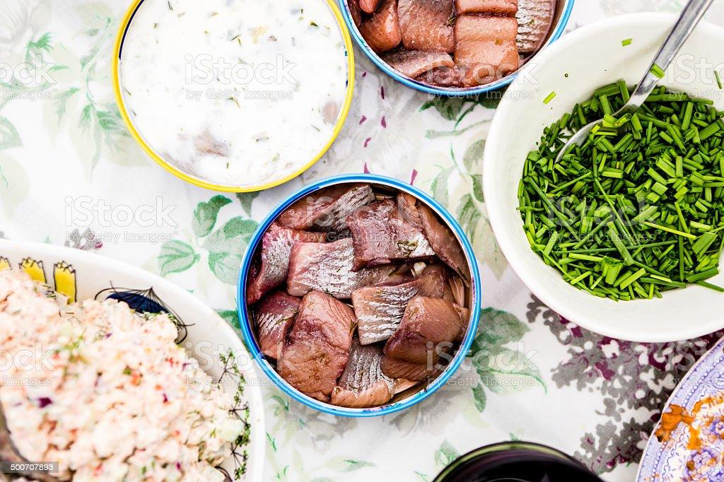Swedish traditional summer food royalty-free stock photo