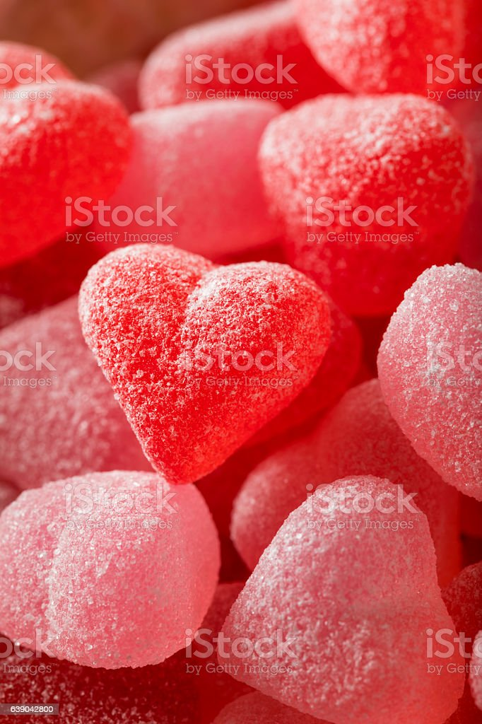 Sweed Red Heart Shaped Candy stock photo