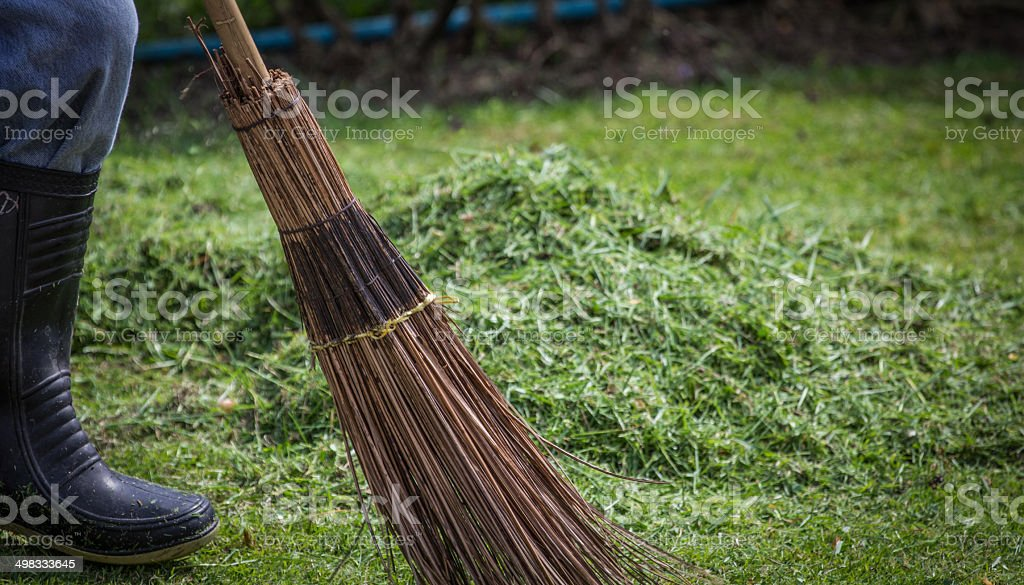 Sweep grass stock photo