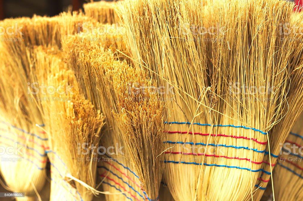 Sweeper, broom stock photo