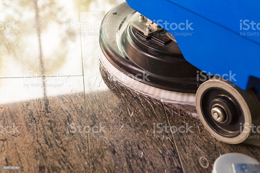 Sweeper truck stock photo