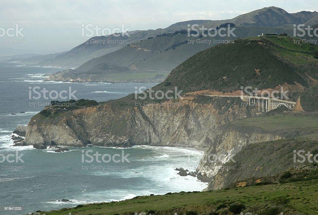 Sweeping Coastal Vista royalty-free stock photo