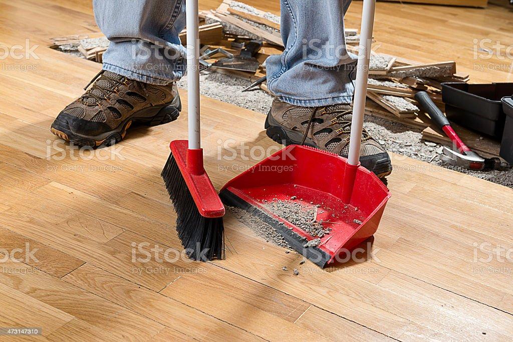 Sweeping Floor stock photo