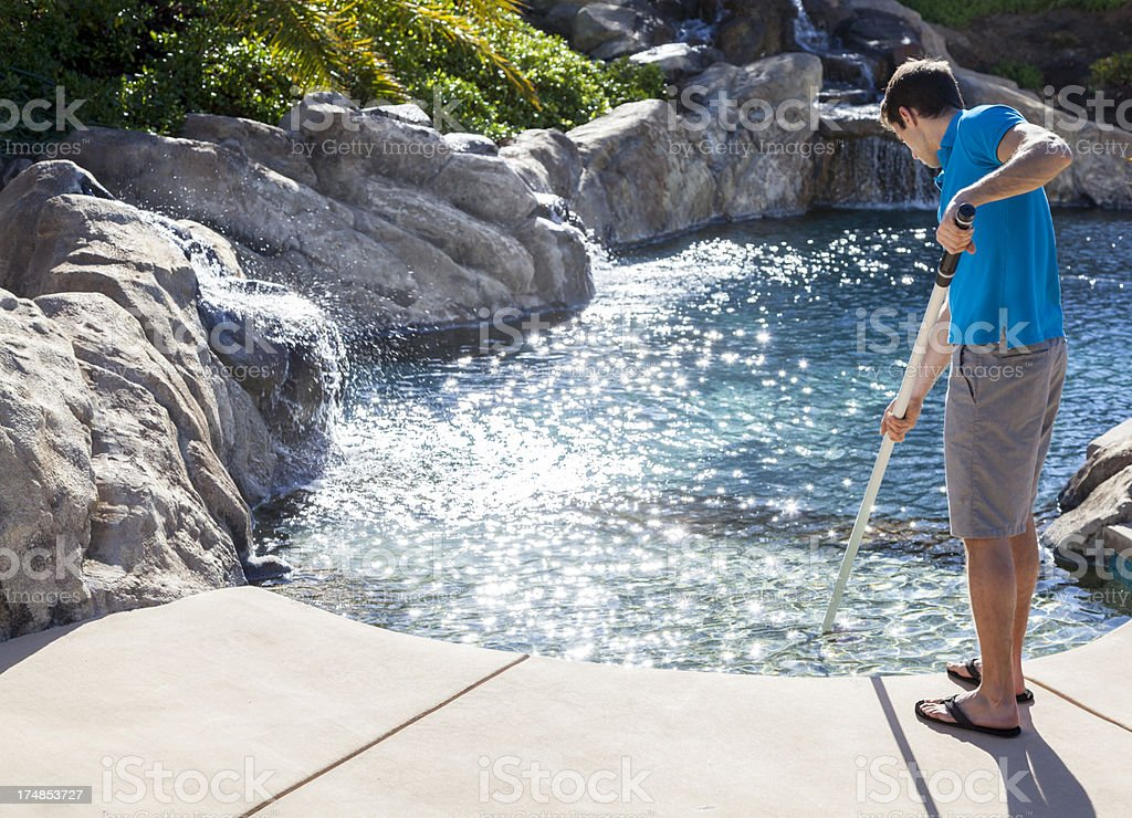 Sweeping Pool royalty-free stock photo