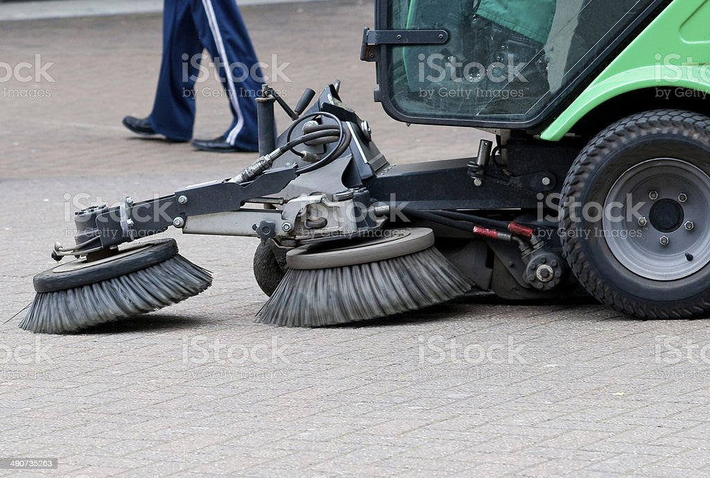 Sweeping the Streets stock photo