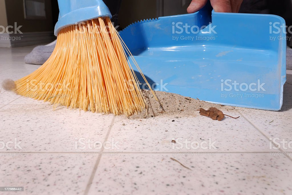 Sweeping Up. stock photo