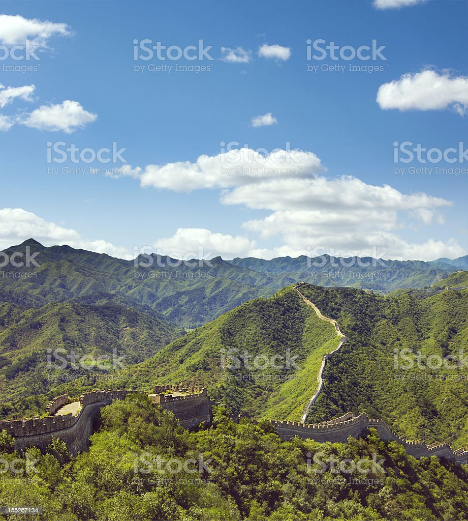 Sweeping View of China's Great Wall stock photo