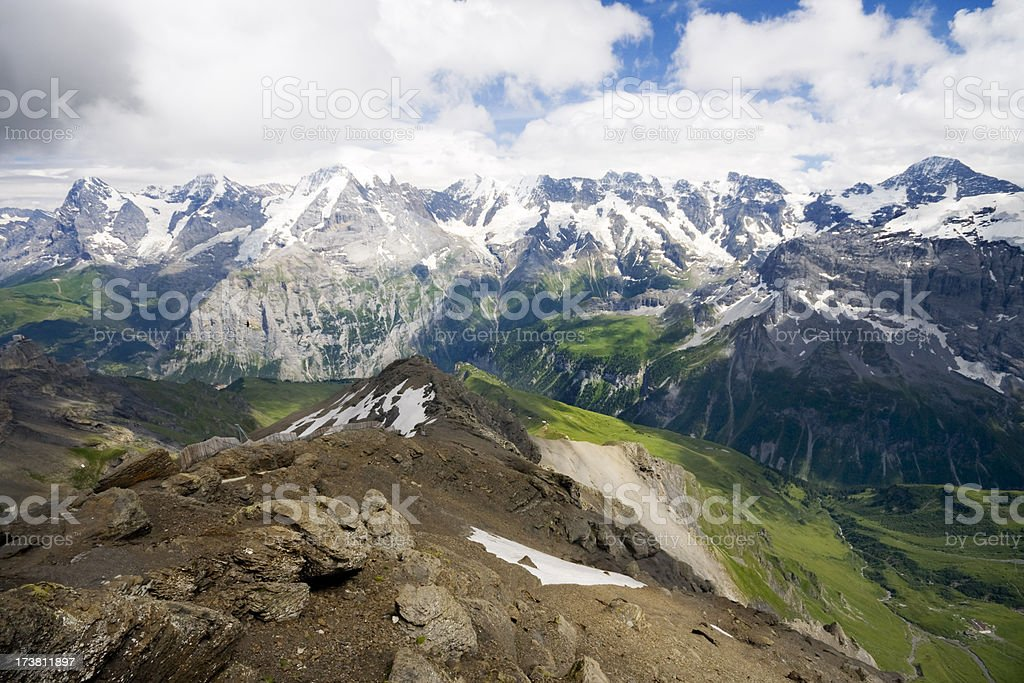 Sweeping Vista of Swiss Alps royalty-free stock photo