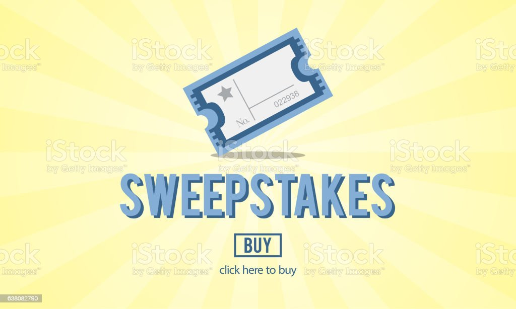 Sweepstakes Lottery Lucky Surprise Risk Concept stock photo