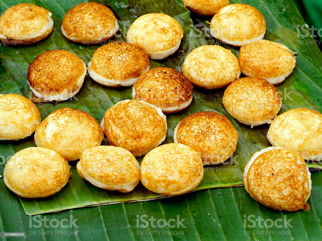 Sweet and Savory Grilled Coconut stock photo