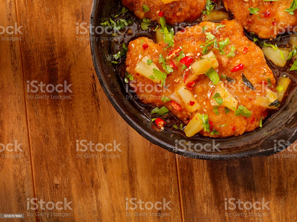 Sweet and Sour Chicken stock photo