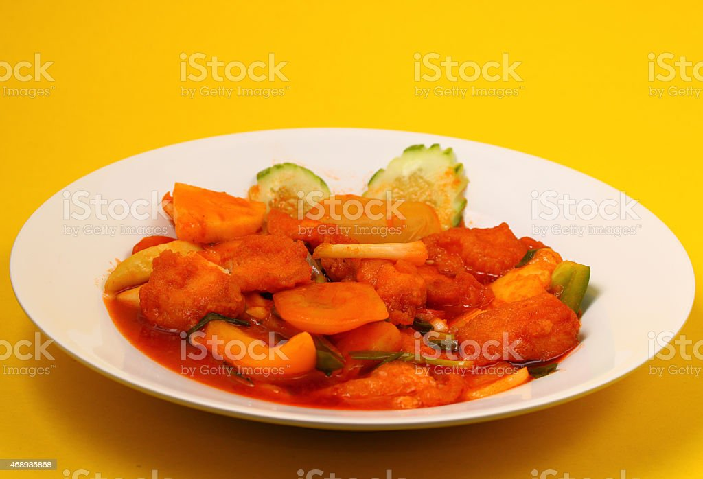 Sweet and sour fish stock photo