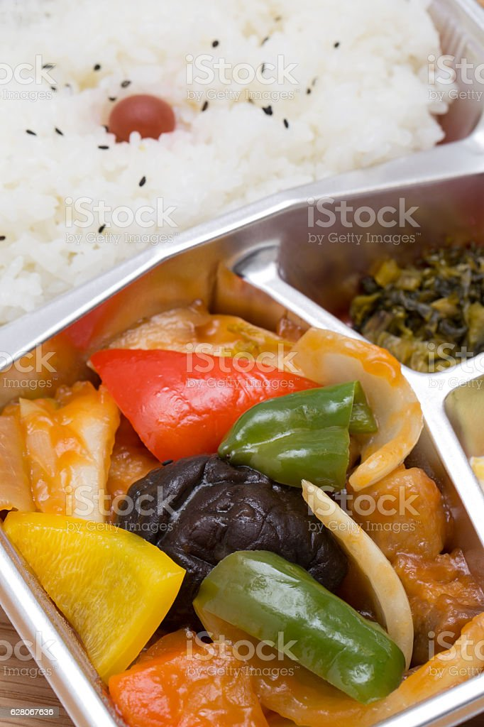 Sweet and sour pork belly stock photo