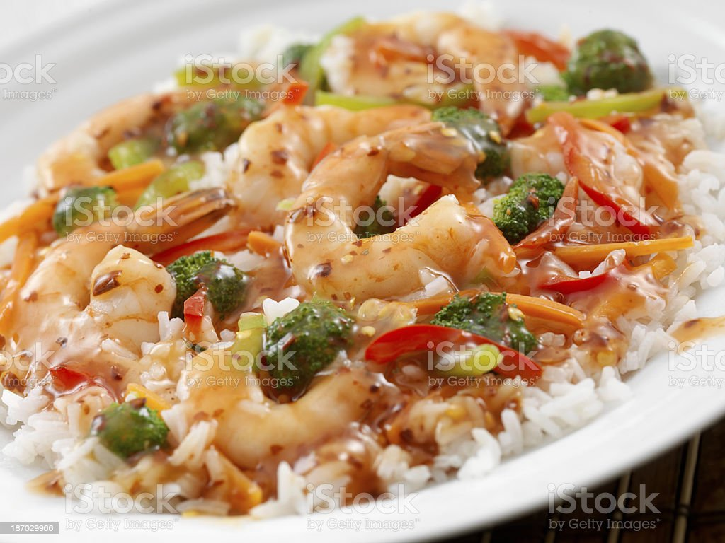 Sweet and Sour Shrimp royalty-free stock photo