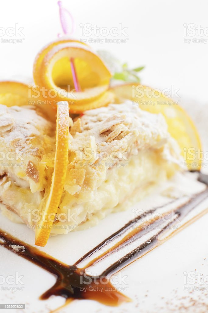 sweet and tasty cake royalty-free stock photo