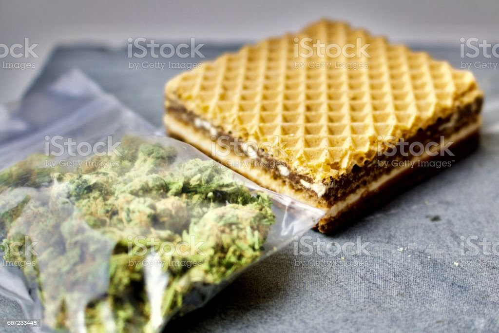 Sweet and weed stock photo