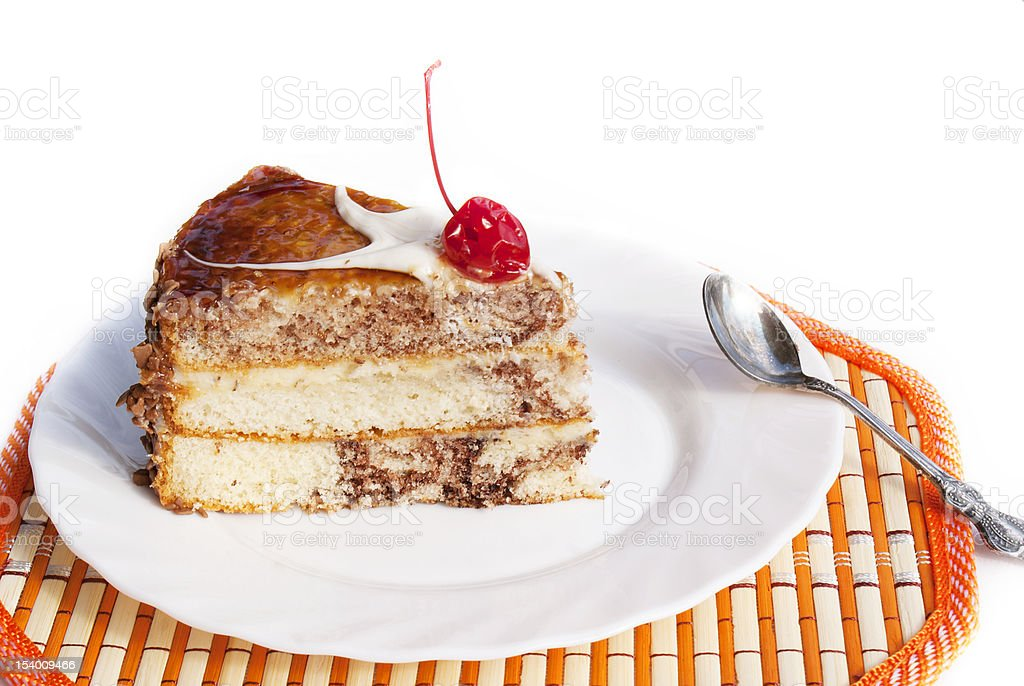 Sweet appetizing fresh torte royalty-free stock photo