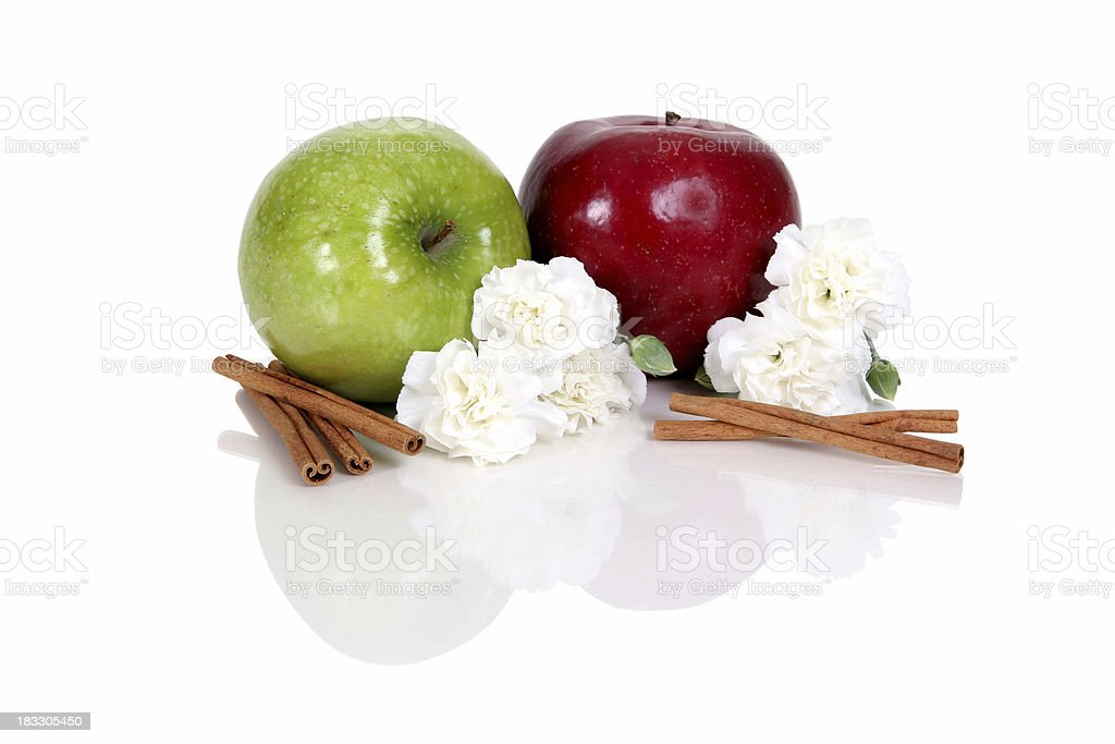 Sweet apple cinnamon. stock photo