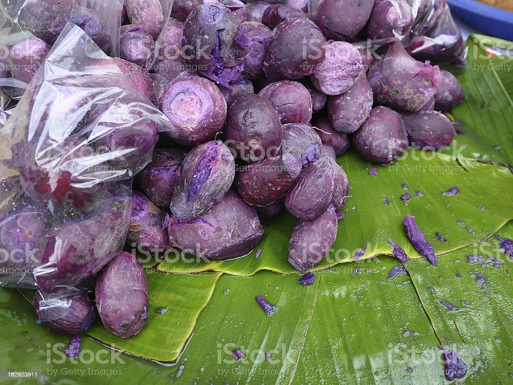 sweet asian yams stock photo