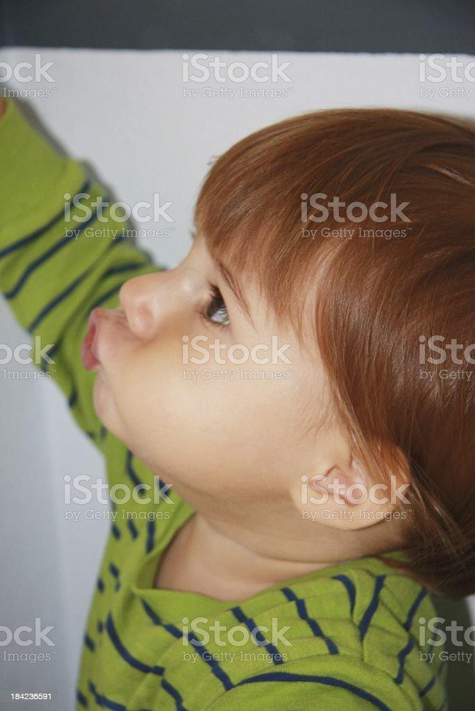 sweet baby boy stock photo