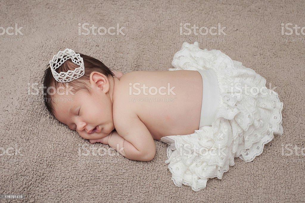Sweet baby girl portrait royalty-free stock photo