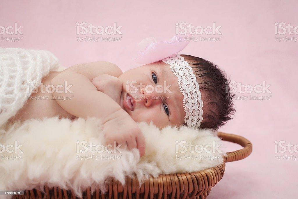 Sweet baby girl portrait stock photo