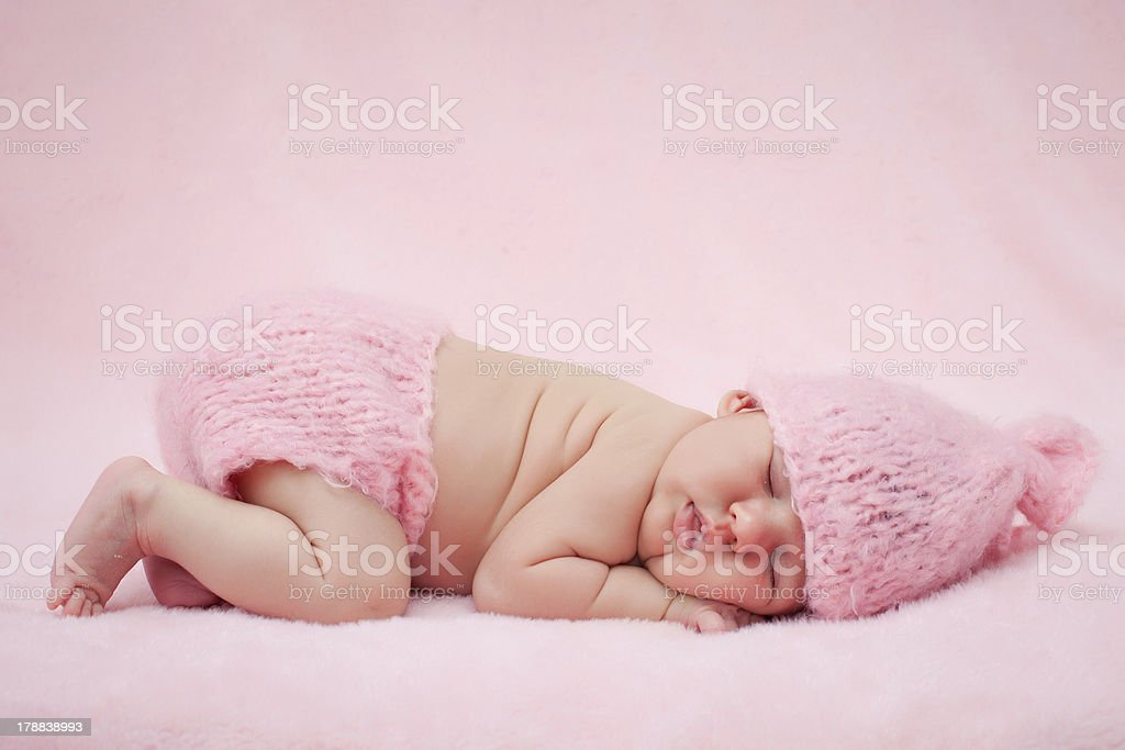 Sweet baby girl portrait royalty-free stock photo