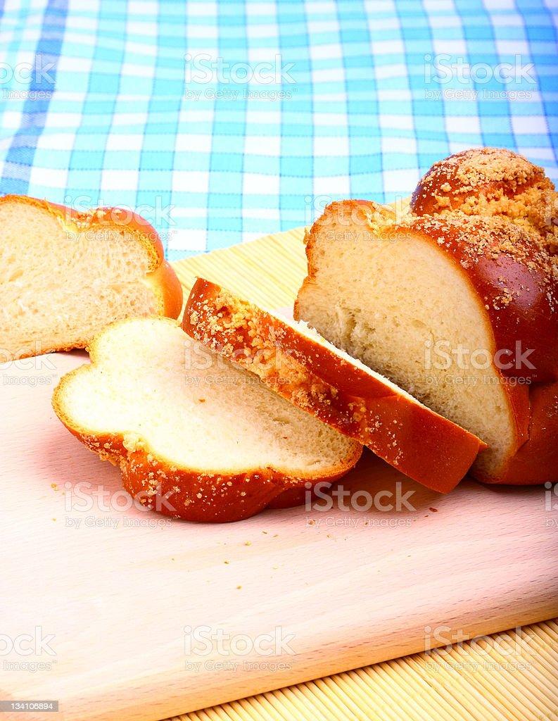 Sweet baked bread challah royalty-free stock photo