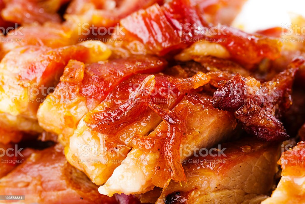 Sweet barbecue pork stock photo