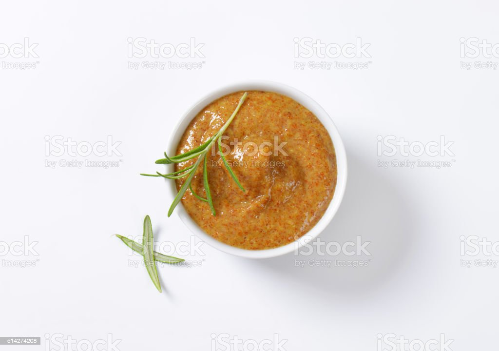 Sweet Bavarian mustard stock photo