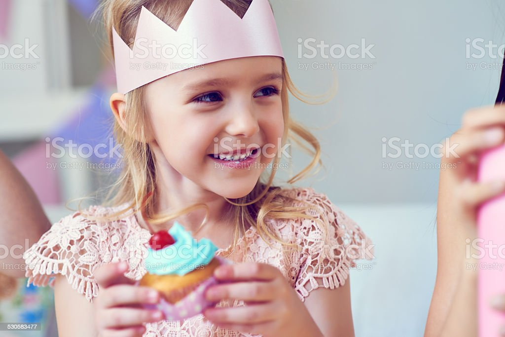 Sweet birthday girl stock photo