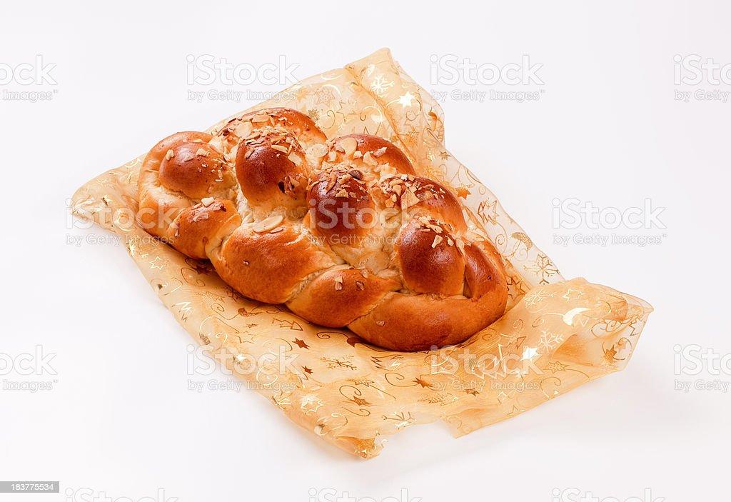 Sweet braided bread stock photo