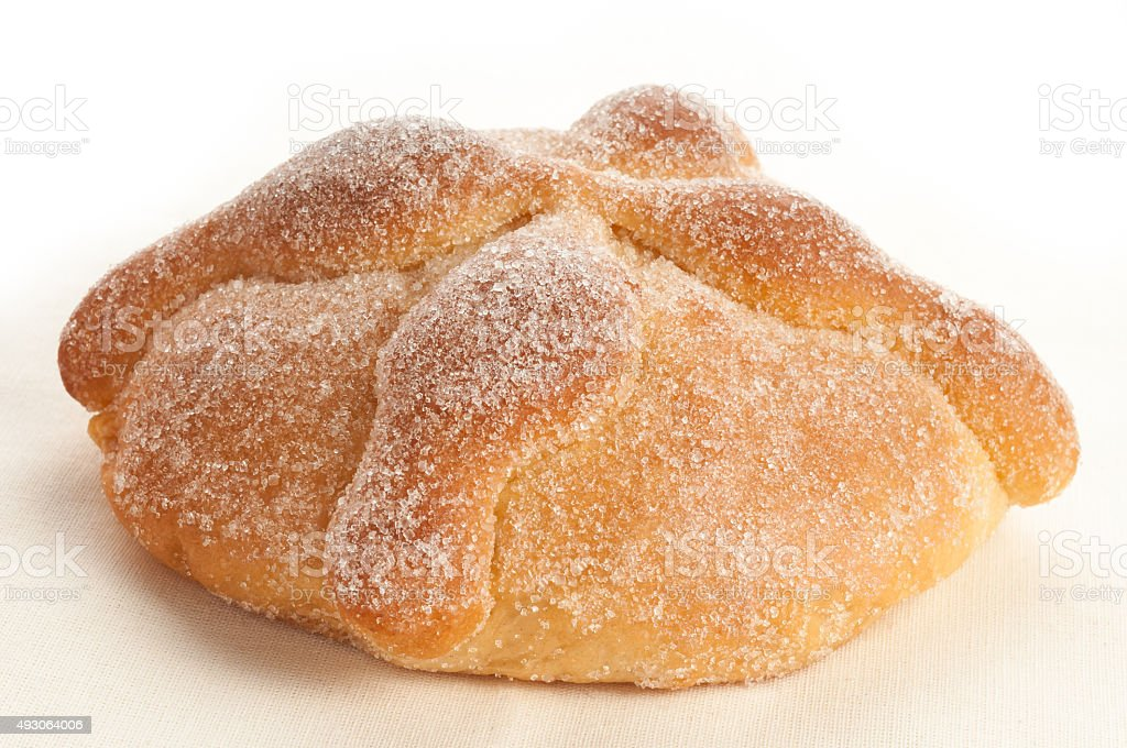 Sweet bread called Pan de Muerto stock photo