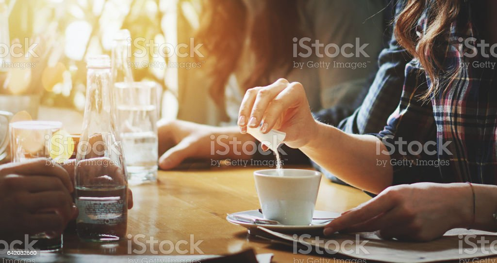 Sweet break. stock photo