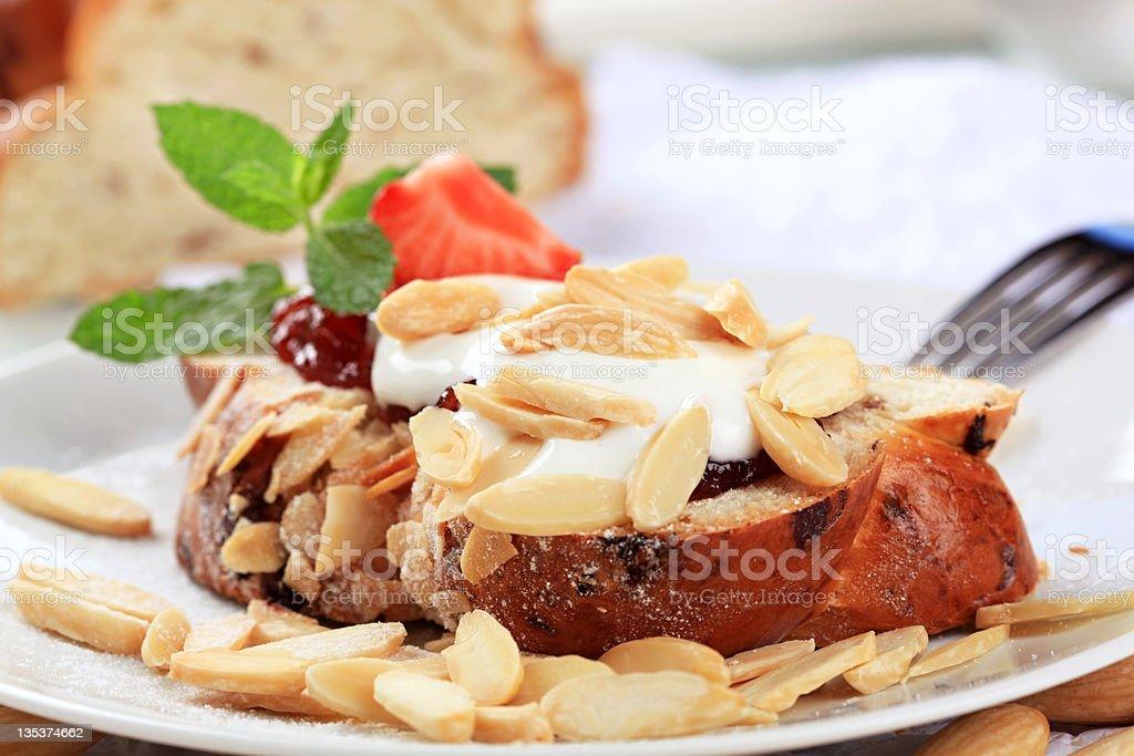 Sweet breakfast royalty-free stock photo