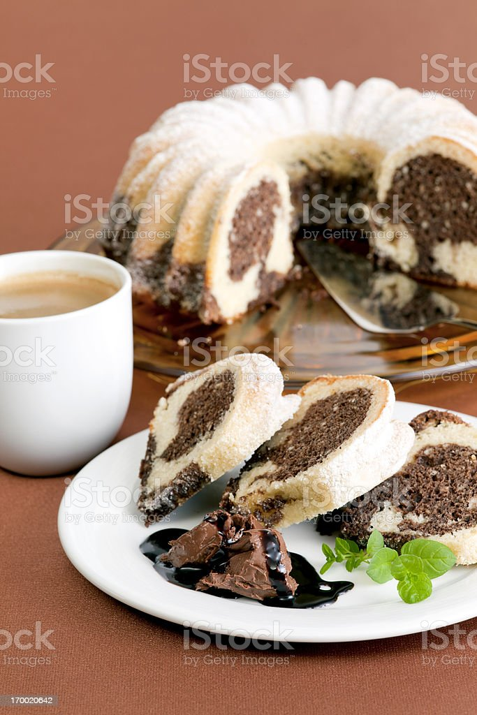 Sweet breakfast stock photo