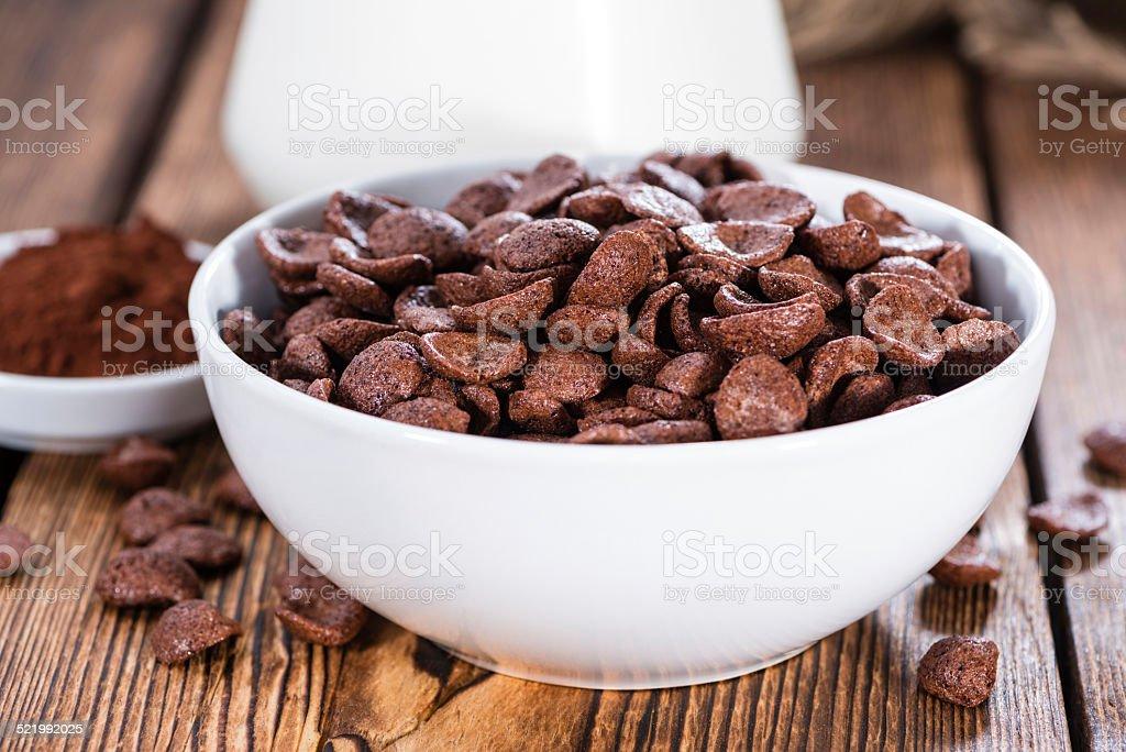 Sweet Breakfast (choco flakes) stock photo